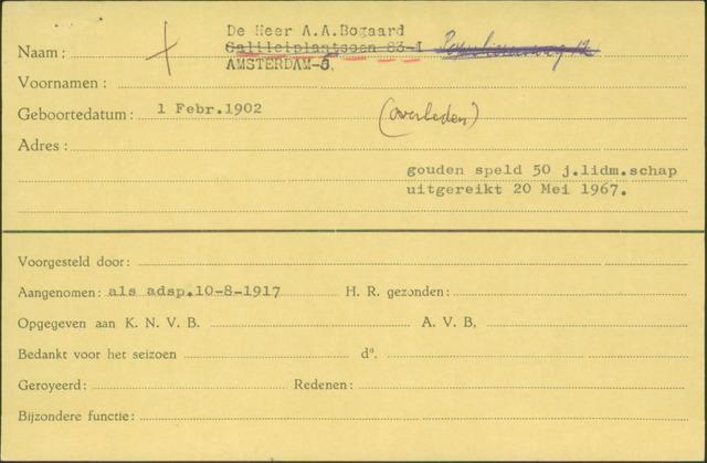 Ledenkaarten (1911-1989) 1917