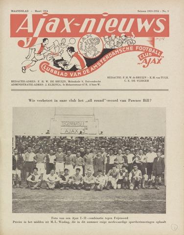 Clubnieuws Ajax (vanaf 1916) 1954-03-01