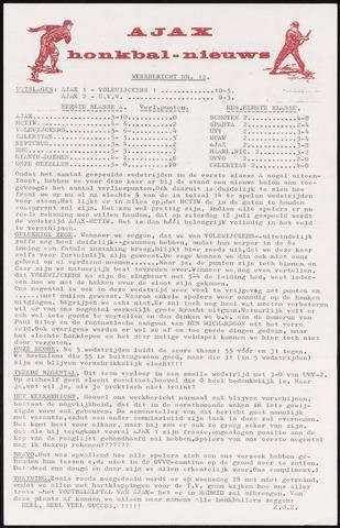 Honkbal nieuws (1963-1972) 1969-05-27
