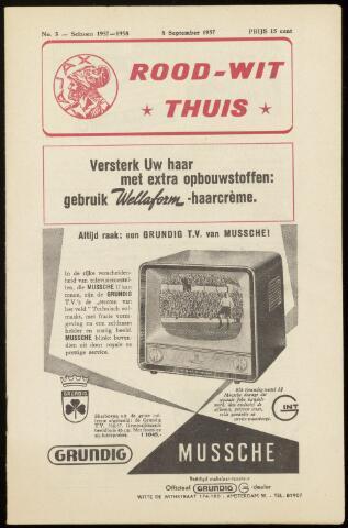 Programmaboekjes (vanaf 1934) 1957-09-08