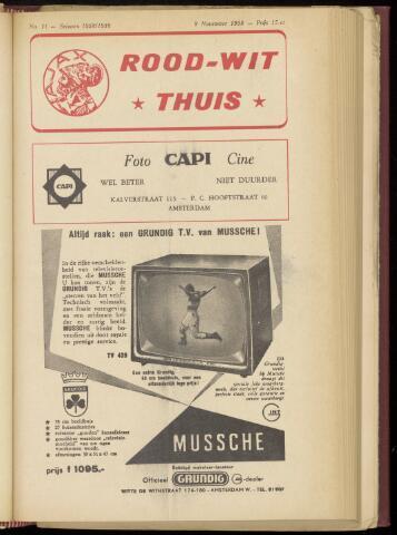 Programmaboekjes (vanaf 1934) 1958-11-09