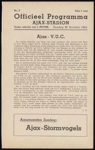 Programmaboekjes (vanaf 1934) 1941-10-26