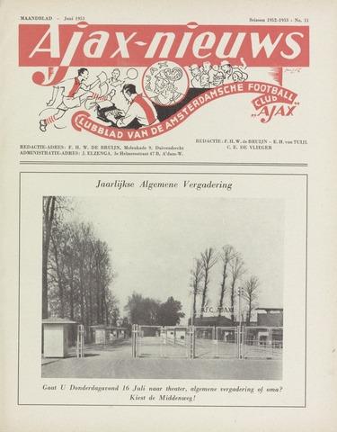 Clubnieuws Ajax (vanaf 1916) 1953-06-01