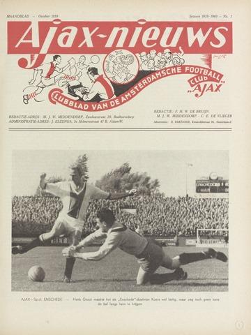 Clubnieuws Ajax (vanaf 1916) 1959-10-01