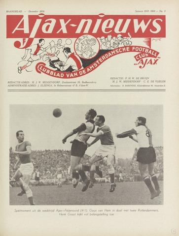 Clubnieuws Ajax (vanaf 1916) 1959-12-01