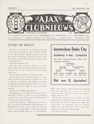 Clubnieuws Ajax (vanaf 1916) 1937-05-01