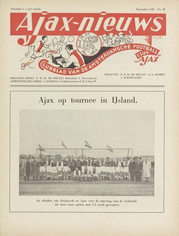 Clubnieuws Ajax (vanaf 1916) 1949-09-01