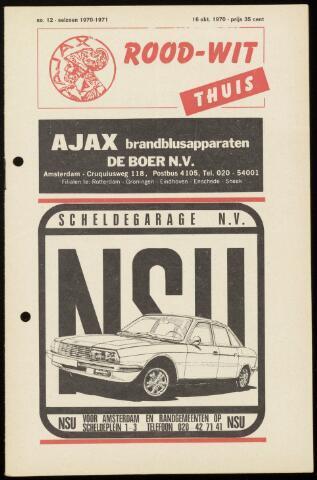 Programmaboekjes (vanaf 1934) 1970-10-16