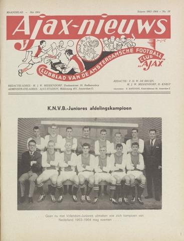 Clubnieuws Ajax (vanaf 1916) 1964-05-01