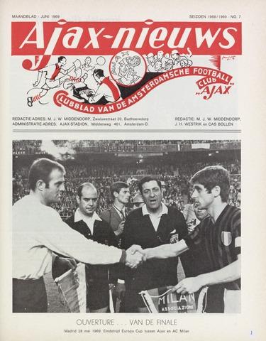 Clubnieuws Ajax (vanaf 1916) 1969-06-01