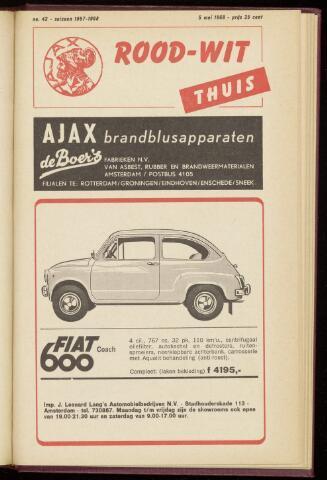 Programmaboekjes (vanaf 1934) 1968-05-05