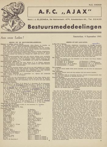 Clubnieuws Ajax (vanaf 1916) 1943-09-04