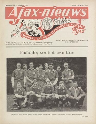 Clubnieuws Ajax (vanaf 1916) 1952-09-01