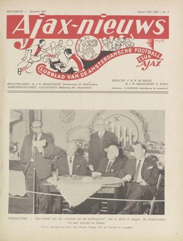 Clubnieuws Ajax (vanaf 1916) 1963-12-01