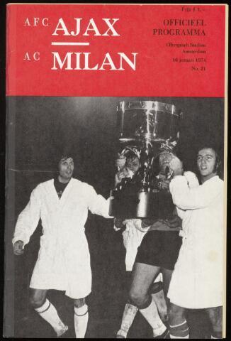 Programmaboekjes (vanaf 1934) 1974-01-16
