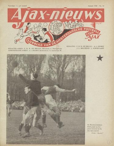 Clubnieuws Ajax (vanaf 1916) 1948-01-01