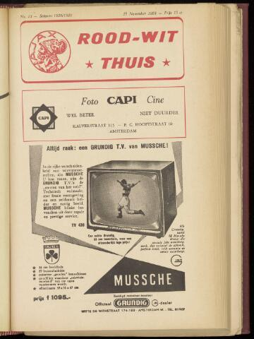 Programmaboekjes (vanaf 1934) 1958-11-23