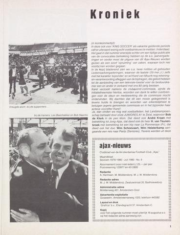 Clubnieuws Ajax (vanaf 1916) 1980-07-01