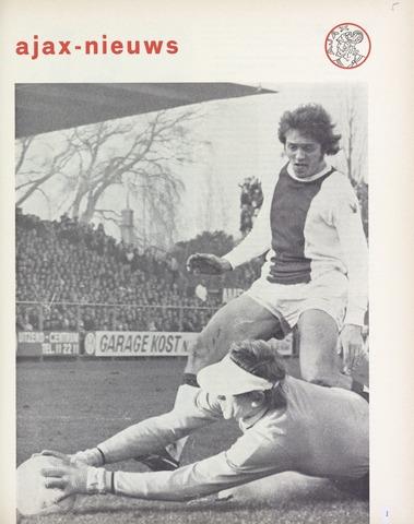 Clubnieuws Ajax (vanaf 1916) 1972-02-01