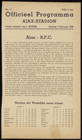 Programmaboekjes (vanaf 1934) 1943-02-07