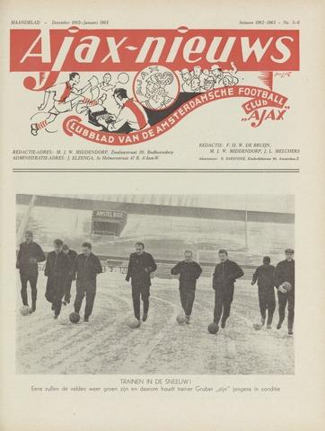 Clubnieuws Ajax (vanaf 1916) 1962-12-01