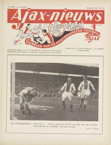 Clubnieuws Ajax (vanaf 1916) 1949-12-01
