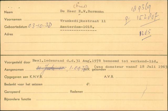 Ledenkaarten (1911-1989) 1978