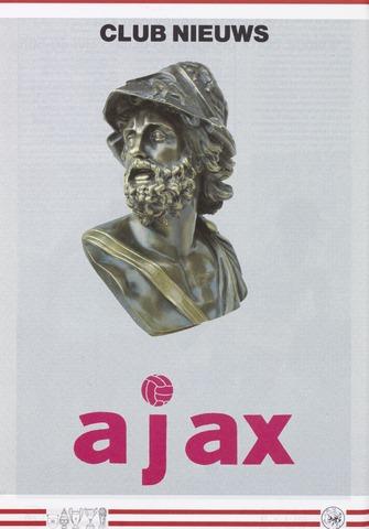 Clubnieuws Ajax (vanaf 1916) 1988-03-01