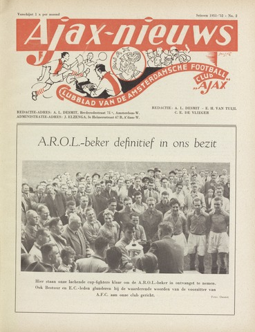 Clubnieuws Ajax (vanaf 1916) 1951-10-01