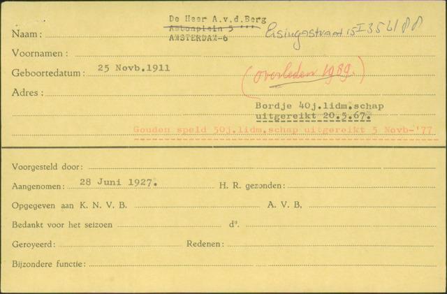 Ledenkaarten (1911-1989) 1927