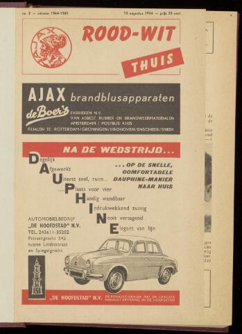 Programmaboekjes (vanaf 1934) 1964-08-15