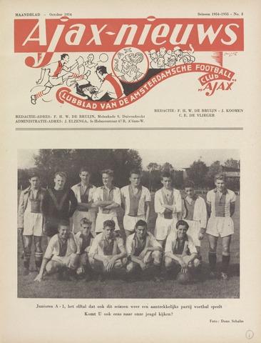 Clubnieuws Ajax (vanaf 1916) 1954-10-01