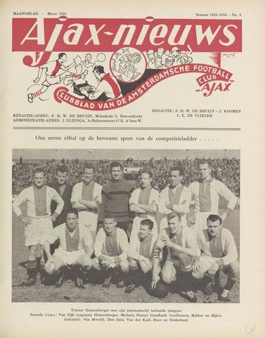 Clubnieuws Ajax (vanaf 1916) 1956-03-01