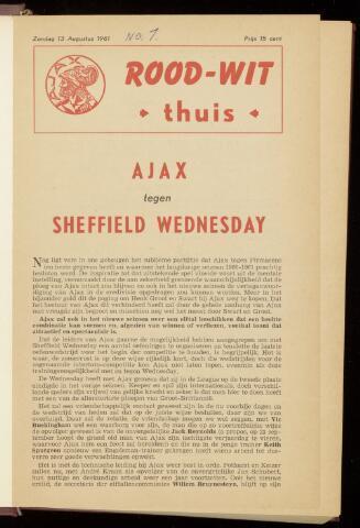 Programmaboekjes (vanaf 1934) 1961-08-13