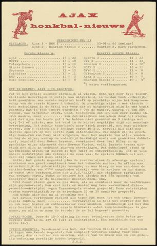 Honkbal nieuws (1963-1972) 1969-07-28