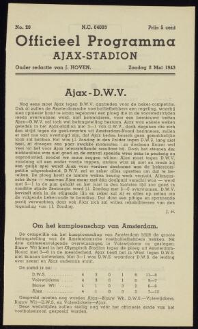 Programmaboekjes (vanaf 1934) 1943-05-02