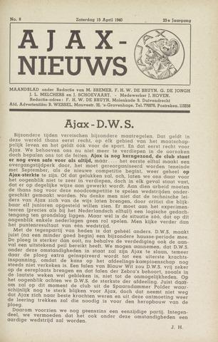 Clubnieuws Ajax (vanaf 1916) 1940-04-13