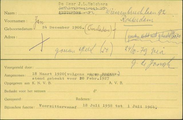 Ledenkaarten (1911-1989) 1920