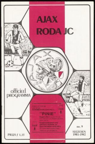 Programmaboekjes (vanaf 1934) 1981-11-22