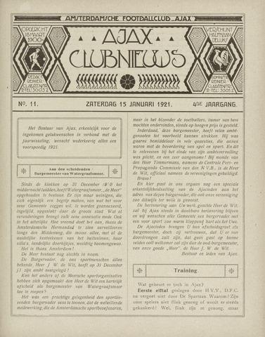 Clubnieuws Ajax (vanaf 1916) 1921-01-15