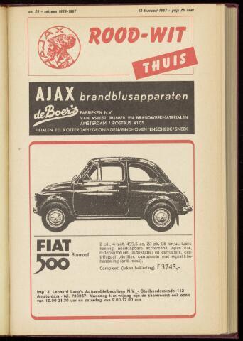 Programmaboekjes (vanaf 1934) 1967-02-19