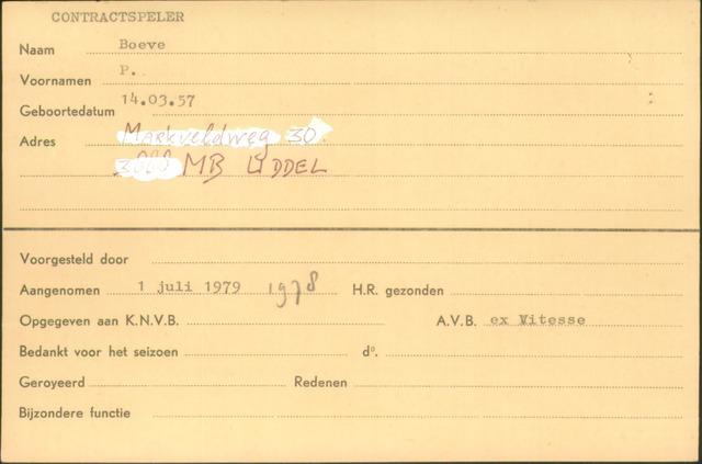 Ledenkaarten (1911-1989) 1979