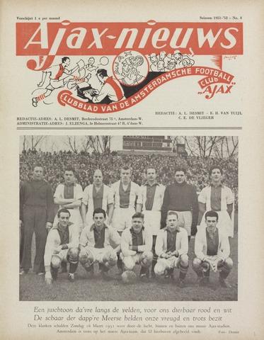 Clubnieuws Ajax (vanaf 1916) 1952-04-01