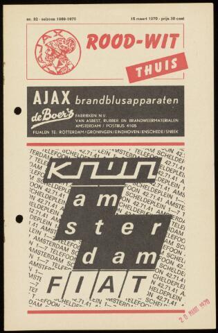 Programmaboekjes (vanaf 1934) 1970-03-15
