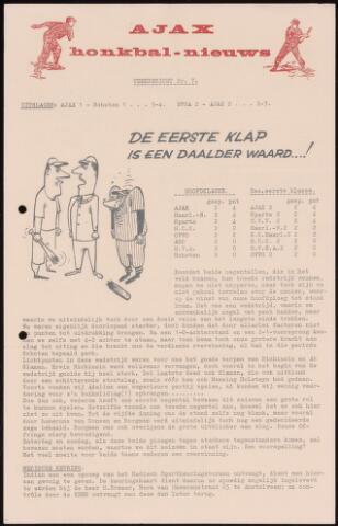Honkbal nieuws (1963-1972) 1966-05-09