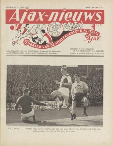Clubnieuws Ajax (vanaf 1916) 1963-10-01