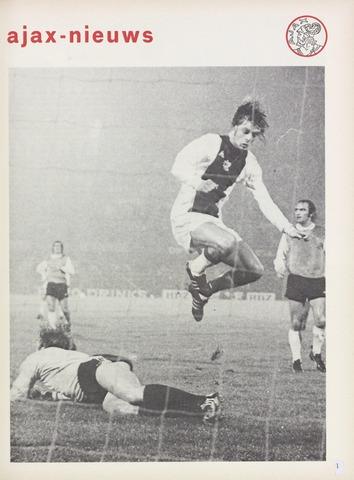 Clubnieuws Ajax (vanaf 1916) 1973-11-01