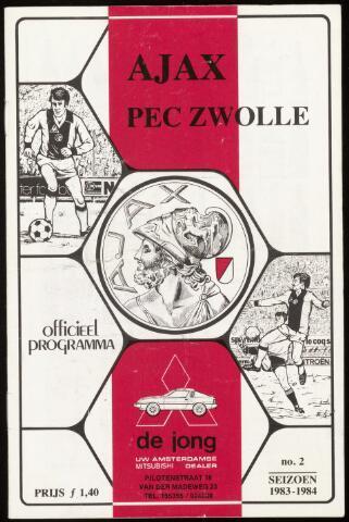 Programmaboekjes (vanaf 1934) 1983-08-28