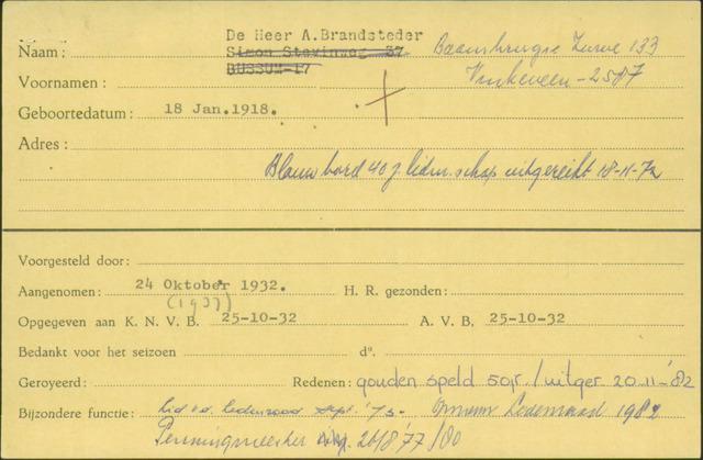 Ledenkaarten (1911-1989) 1932