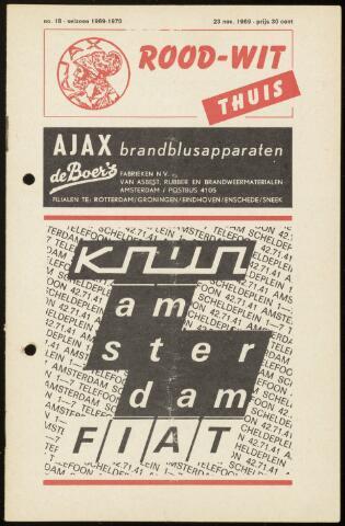 Programmaboekjes (vanaf 1934) 1969-11-23